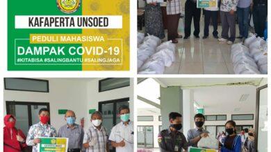 Photo of KAFAPERTA Unsoed Bagi Paket Bantuan Sembako untuk 150 Mahasiwa ter dampak Covid-19